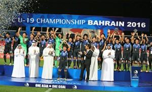Japan claims AFC U-19 football trophy