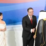 Shaikh Abdullah attends Serbian President's inauguration