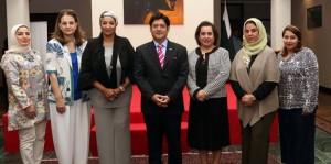 Ambassador Javed Malik receives delegates of Bahraini Businesswomen Society