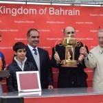 Ambassador to UK presents Bahrain horse racing trophy