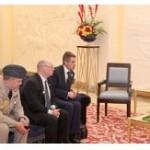 King meets British delegation