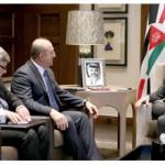King of Jordan meets Turkish FM