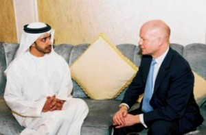 H.H. Sheikh Abdullah and William Hague