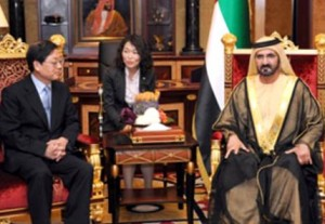 Sheikh Mohammed receives Korean Prime Minister