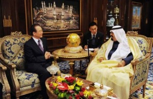 Wen Jiabao with Saudi Arabian King