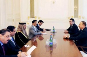 Azeri President receives Sheikh Abdullah