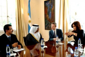 Sheikh Abdullah holds talks with Argentina's President, VP and FM