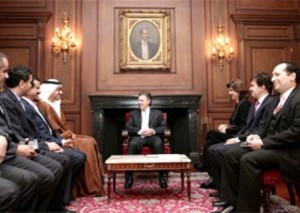 Sheikh Abdullah meets President & FM of Colombia