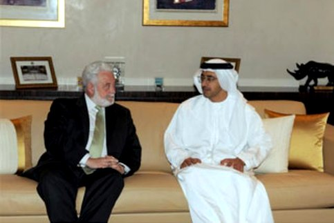 Sheikh Abdullah meets Secretary General of Bureau Int'l des Expositions