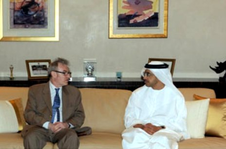 Sheikh Abdullah receives Director of Mideast-French Foreign Ministry