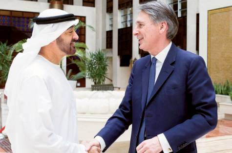 Sheikh Mohammed discuss ties with British Defence Secretary