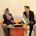 Sheikha Lubna discuss trade ties with German officials