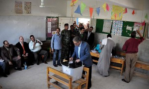 Egyptians vote in historic election