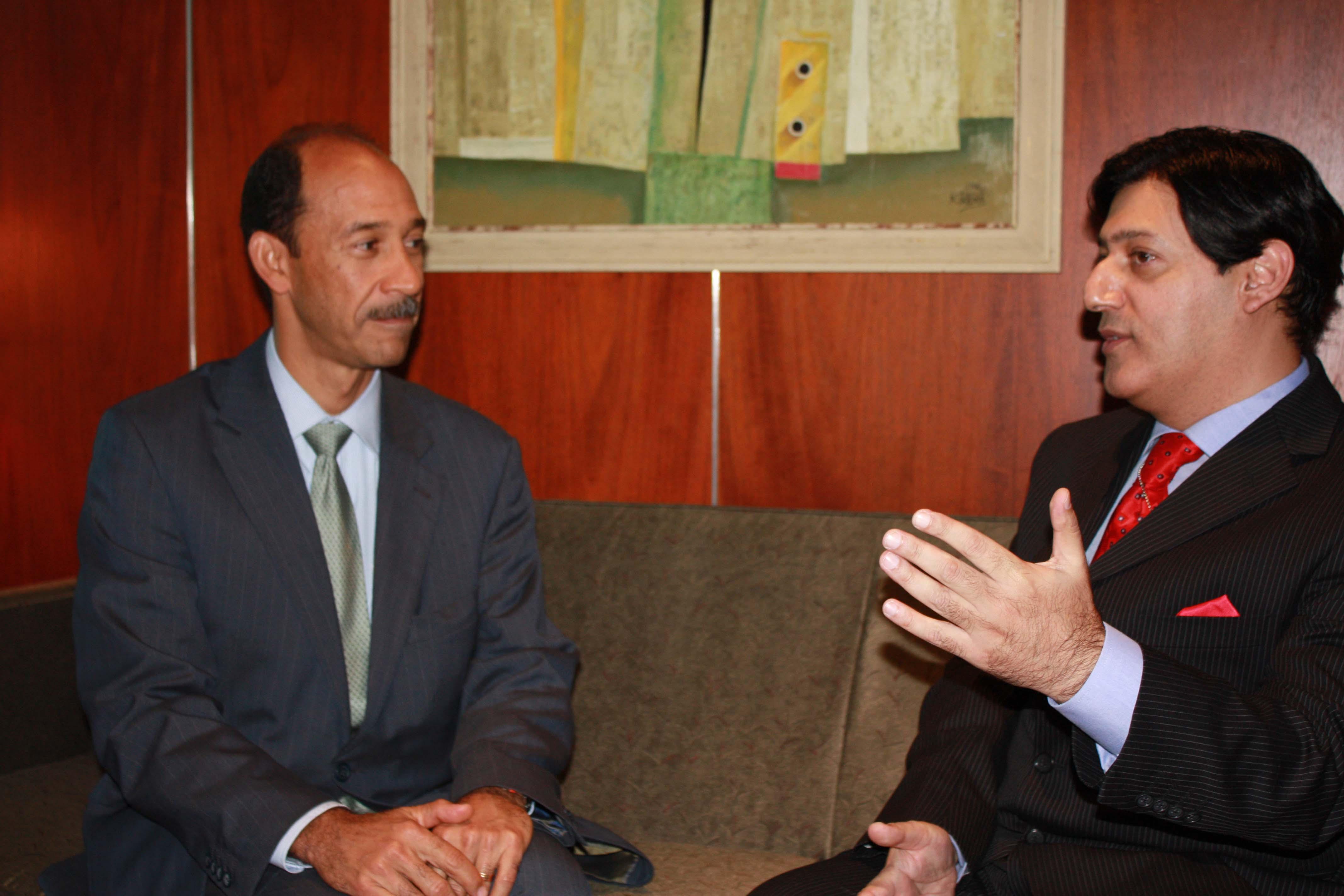 US Ambassador to UAE talks to Javed Malik