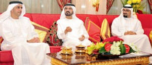 Sheikh Mohammed receives Sheikh Saif & Security Officers