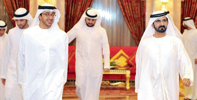 Shaikh Mohammed receives UAE Ambassadors Abroad