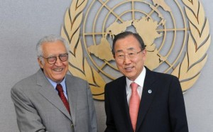 Ban and Brahimi Meet to Discuss Syria