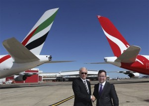 Emirates Ink Partnership with Qantas Airways