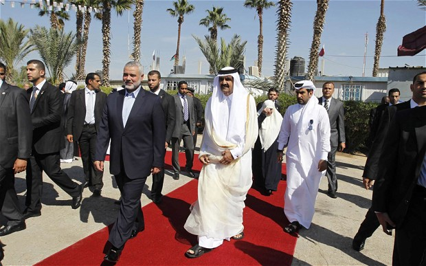 Qatari Emir Makes Landmark Visit to Gaza