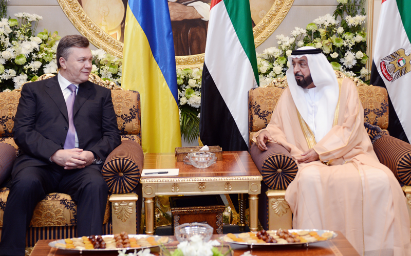 President Khalifa Holds Bilateral Talks with Ukrainian President