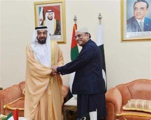President Khalifa Meets Pakistani President