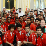 President Khalifa Receives Gulf Cup Champions