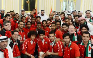 President Khalifa Receives Gulf Cup Champions