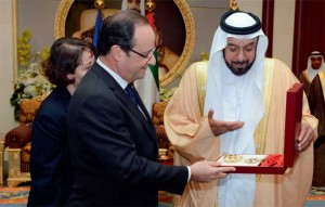 Sheikh Khalifa and Hollande Call for Security & Stability