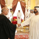 Judges taking oath before Sheikh Mohammed at Zabeel Palace