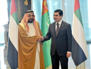Sheikh Khalifa & Turkmen President Holds Talks