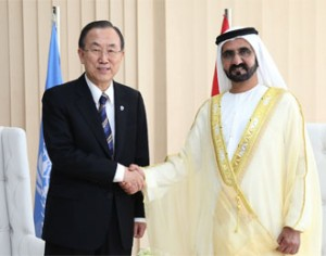 Sheikh Mohammed Receives Ban Ki Moon