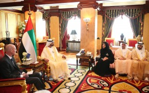 Sheikh Mohammed Receives Chairman & Members of BIE