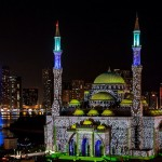 Sheikh Sultan Opens Sharjah Light Festival