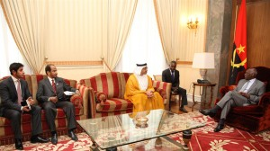 Sheikh Abdullah Discuss Bilateral Ties with Angolan President