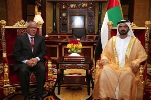 Sheikh Mohammed Meets Libyan PM