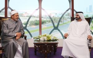 Sheikh Mohammed Meets Grand Imam of Al-Azhar