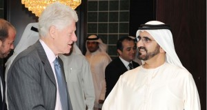Sheikh Mohammed Receives Clinton