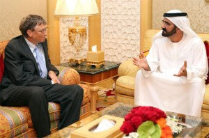 Sheikh Mohammed receives Bill Gates
