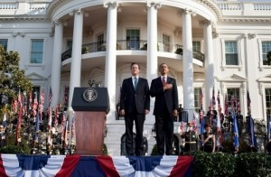 Obama Hosts British PM for Talks