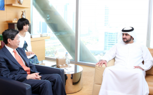 Sheikh Maktoum Meets Chinese Bank President