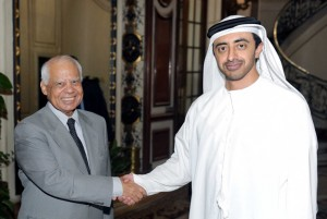 Sheikh Abdullah Holds Talks with Egyptian PM