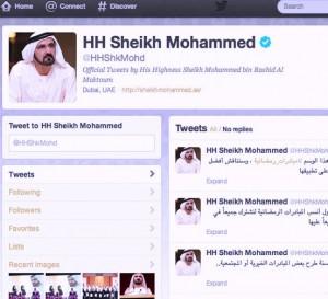 Sheikh Mohammed Crosses Twitter Milestone