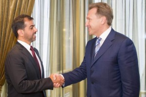 Sheikh Hamed Meets Russia's Deputy PM