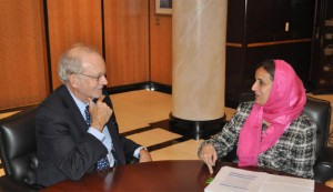 Sheikha Lubna Holds Talks with St.Lucia & German Counterparts
