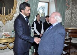 Irish President Receives Sheikh Abdullah