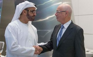 Sheikh Mohammed bin Zayed Meets WEF Chairman