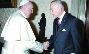 OIC Secretary-General meets Pope Francis