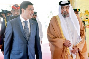 President, Turkmen President Hold Discussions