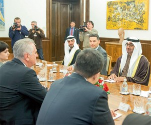 Sheikh Mohamed bin Zayed meets Serbian President