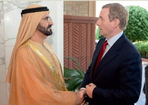 Sheikh Mohammed Receives Irish PM